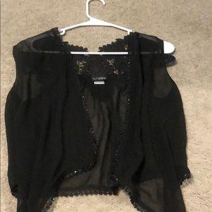 Gorgeous black lace sequin cover up